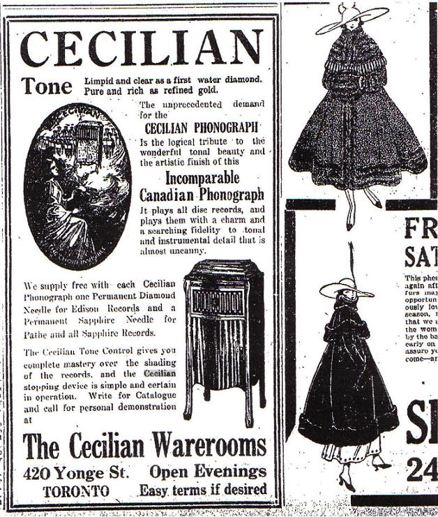 Car Dealers Toronto >> Cecilian--Canadian Antique Phonograph Project